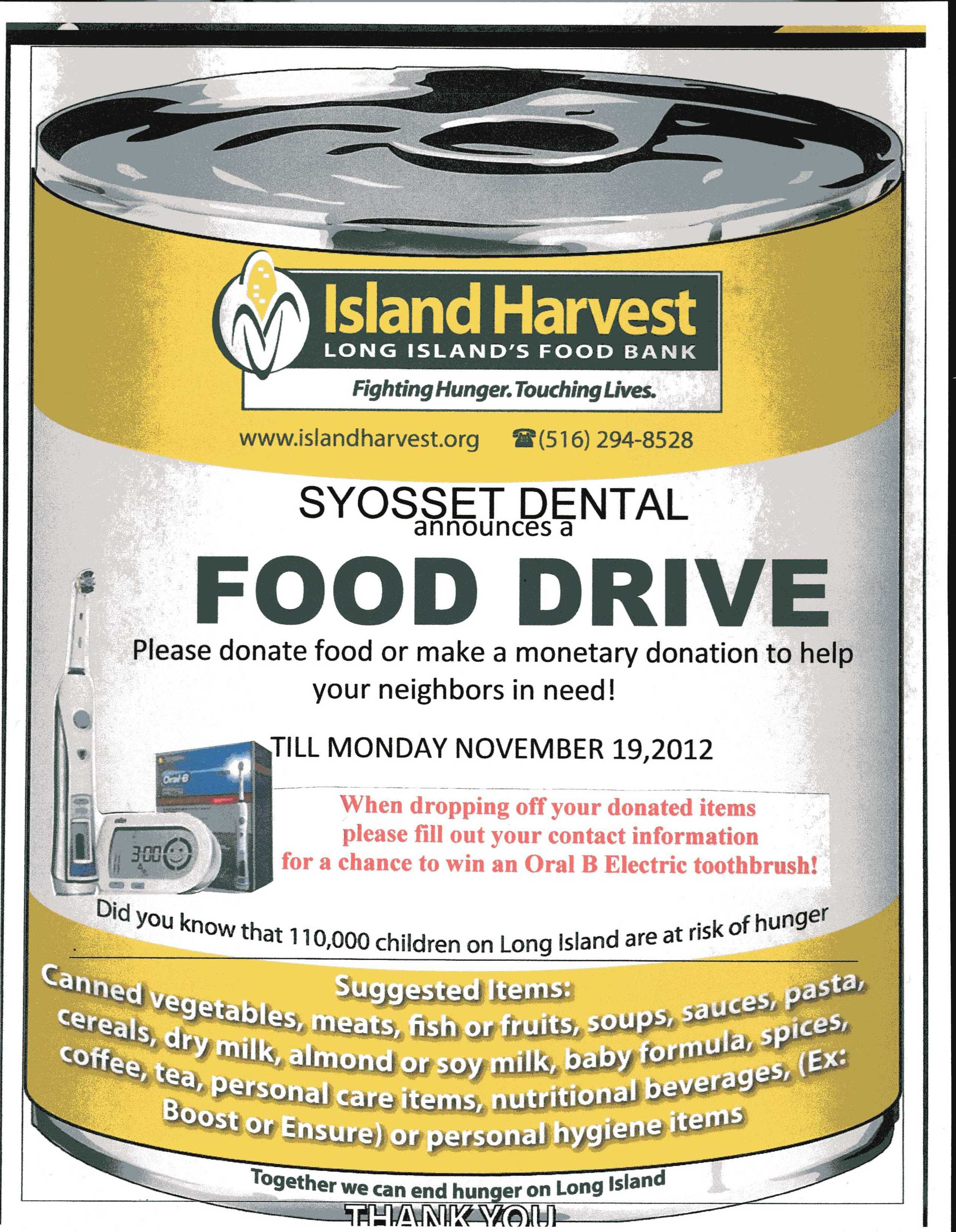 Soup Kitchens In Long Island Help Syosset Dental And Island Harvest End Hunger On Long